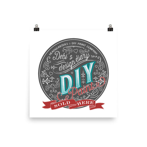 DIY Round Sold Here Photo Paper Poster