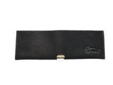 Black-Patterned Leather Slit Wallet Coin Money Purse for Men & Women - Accessories