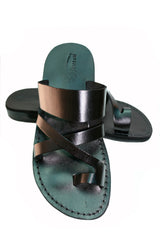 Leather Sandals - Black Bath Handmade Leather Sandals for Men & Women