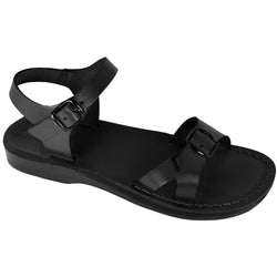 Leather Sandals - Black Billa Handmade Leather Sandals for Men & Women