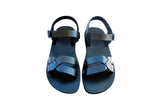 Leather Sandals - Black Circle Handmade Leather Sandals for Men & Women