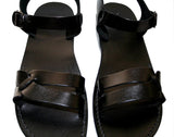 Black Circle Handmade Leather Sandals for Men, Women & Children