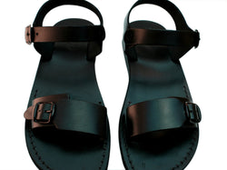 Black Eclipse Handmade Leather Sandals for Men, Women & Children