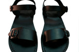 Leather Sandals - Black Eclipse Handmade Leather Sandals for Men & Women