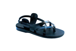 Black Mix Handmade Leather Sandals for Men, Women & Children