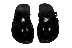 Black Mixin Handmade Leather Sandals for Men, Women & Children