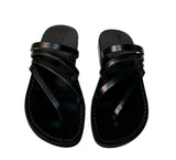 Leather Sandals - Black Rainbow Handmade Leather Sandals for Men & Women
