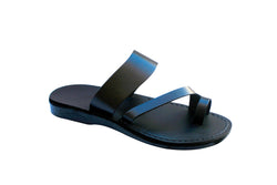 Leather Sandals - Black Roman Handmade Leather Sandals for Men & Women