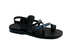 Leather Sandals - Black Roxy Handmade Leather Sandals for Men & Women