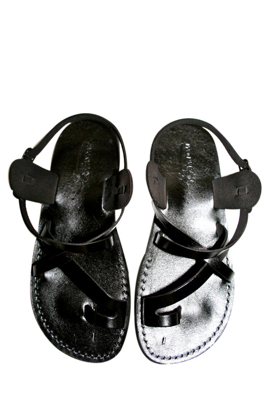 92ae305f0 ... Leather Sandals - Black Roxy Handmade Leather Sandals for Men   Women  ...