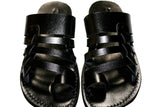 Leather Sandals - Black Skate Handmade Leather Sandals for Men & Women