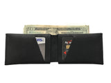 Black Leather Slit Wallet Coin Money Purse for Men & Women - Accessories - Sandali_Sandals