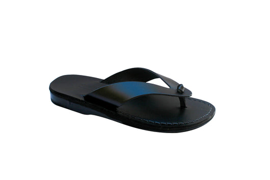 Leather Sandals - Black Surf Handmade Leather Sandals for Men & Women