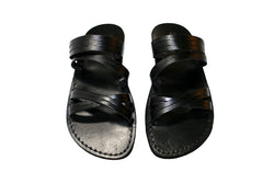 Leather Sandals - Black Swing Handmade Leather Sandals for Men & Women