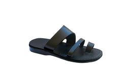 Leather Sandals - Black Thong Handmade Leather Sandals for Men, Women & Children