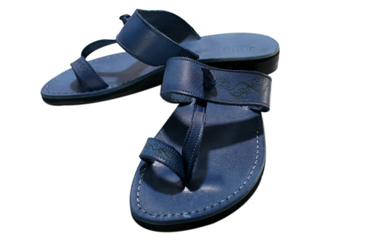 Blue Decor Twizzle Handmade Leather Sandals for Men, Women & Children