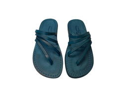 Leather Sandals - Blue Rainbow Handmade Leather Sandals for Men & Women