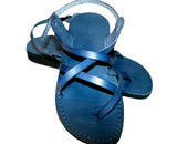 Blue Triple Handmade Leather Sandals for Men, Women & Children