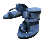 Leather Sandals - Blue Decor Twizzle Handmade Leather Sandals for Men & Women