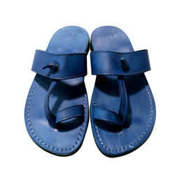 Leather Sandals - Blue Twizzle Handmade Leather Sandals for Men & Women