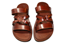 Brown Bio-Pop Handmade Leather Sandals for Men, Women & Children