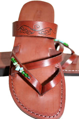 Brown Decor Moon Handmade Leather Sandals for Men, Women & Children