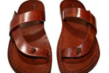 Brown Earth Leather Handmade Sandals - Jesus Sandals, Unisex Sandals, Flip Flop Sandals, Flat Leather Sandals, Genuine Leather Sandals - Sandali_Sandals