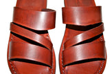 Leather Sandals - Brown Flip Handmade Leather Sandals for Men & Women