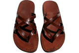 Leather Sandals - Brown Mixin Handmade Leather Sandals for Men & Women