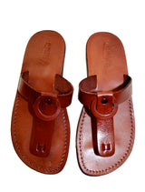 Leather Sandals - Brown Ring Handmade Leather Sandals for Men & Women