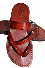 Leather Sandals - Brown Sling Handmade Leather Sandals for Men & Women