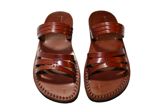 Leather Sandals - Brown Sting Handmade Leather Sandals for Men & Women
