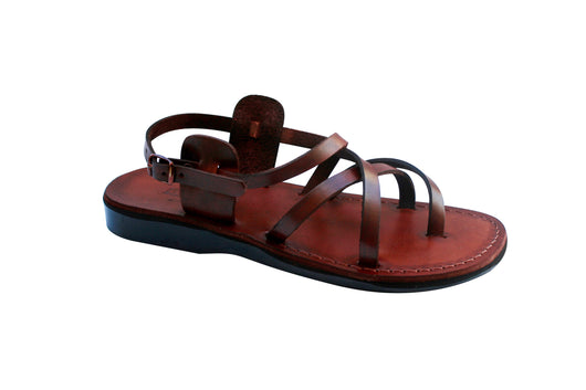 Brown Triple Handmade Leather Sandals for Men, Women & Children - Sandali_Sandals