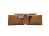 Caramel Leather Slit Wallet Coin Money Purse for Men & Women - Accessories - Sandali_Sandals