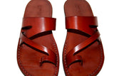 Brown Zing Leather Handmade Sandals - Jesus Sandals, Unisex Sandals, Flip Flop Sandals, Flat Leather Sandals, Genuine Leather Sandals - Sandali_Sandals