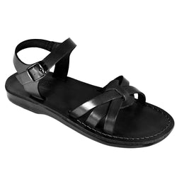 Black Gaia Handmade Leather Sandals for Men, Women & Children - Sandali_Sandals