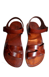 Leather Sandals - Green Circle Handmade Leather Sandals for Men & Women