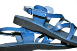 Grey Triple Handmade Leather Sandals for Men, Women & Children - Sandali_Sandals