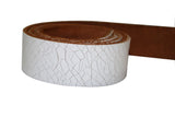 White Leather Belt for Men & Women (Including Buckle) - Accessories
