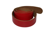Red Leather Belt for Men & Women (Including Buckle) - Accessories - Sandali_Sandals