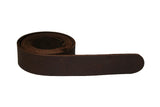 Chocolate Brown Leather Belt for Men & Women (Including Buckle) - Accessories - Sandali_Sandals