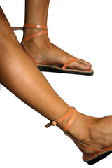 Leather Sandals - Brown Ankle-Strap Handmade Leather Sandals for Men & Women