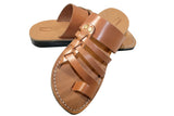 Caramel Skate Leather Sandals - Handmade Sandals, Jesus Sandals, Unisex Sandals, Flip Flop Sandals, Flat Leather Sandals, Genuine Leather Sandals - Sandali_Sandals