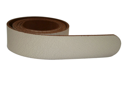Cream Leather Belt for Men & Women (Including Buckle) - Accessories