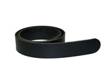 Black Leather Belt for Men & Women (Including Buckle) - Accessories
