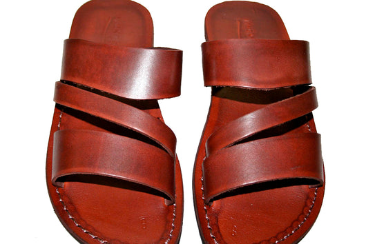Brown Flip Leather Handmade Sandals - Jesus Sandals, Unisex Sandals, Flip Flop Sandals, Flat Leather Sandals, Genuine Leather Sandals - Sandali_Sandals