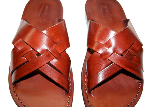 Brown Capri Leather Handmade Sandals - Jesus Sandals, Unisex Sandals, Flip Flop Sandals, Flat Leather Sandals, Genuine Leather Sandals - Sandali_Sandals