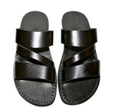Black Flip Leather Sandals - Handmade Sandals, Jesus Sandals, Unisex Sandals, Flip Flop Sandals, Flat Leather Sandals, Genuine Leather Sandals - Sandali_Sandals