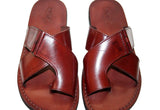 Brown Tiger Leather Handmade Sandals - Jesus Sandals, Unisex Sandals, Flip Flop Sandals, Flat Leather Sandals, Genuine Leather Sandals - Sandali_Sandals