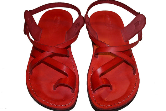 e2983a338 Leather Sandals - Red Roxy Handmade Leather Sandals for Men   Women ...